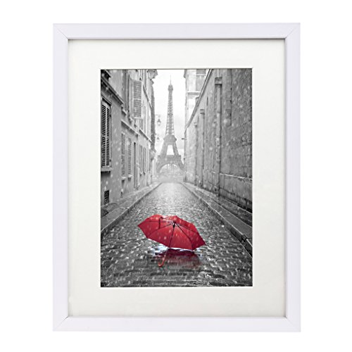 amazoncom 11x14 white wall picture frame made to display pictures 8x10 with mat or 11x14 without mat made with glass