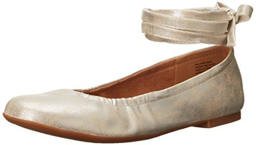 BC Footwear Women's Have A Heart Ballet Flat, Silver, 8 M US