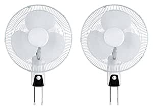VegieMaster lot of 2 Wall Mount Fans Air Cooling Blowers for Home hydroponic Grow Tent HPS Light, 16-inch