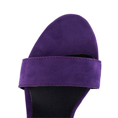 LvYuan Mujer-Tacón Stiletto-Zapatos del club-Sandalias-Oficina y Trabajo Vestido Informal-Terciopelo-Negro Morado Black
