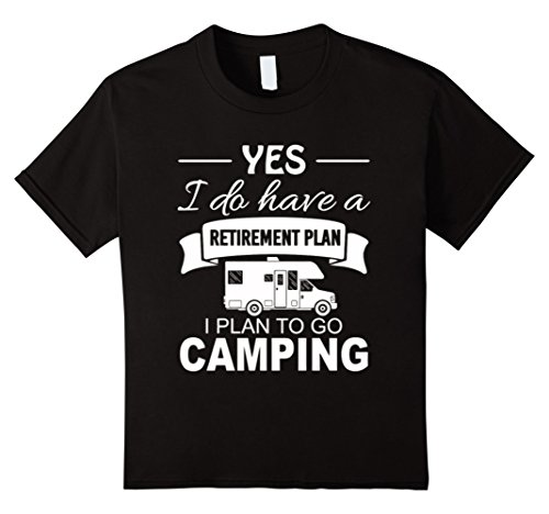 Kids Retirement plan Addicted to Travel and Camping T-shirt 6 Black
