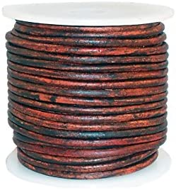 cords craft Round Leather Cord for Bracelet /& Necklaces Genuine Leather Cord 2.0MM C17 Tie-N-Dye