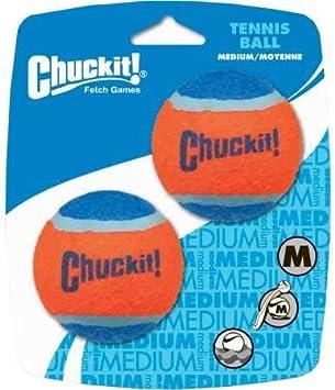 Chuckit Tennis Ball, 2 Pelotas para Perros Compatible con el ...