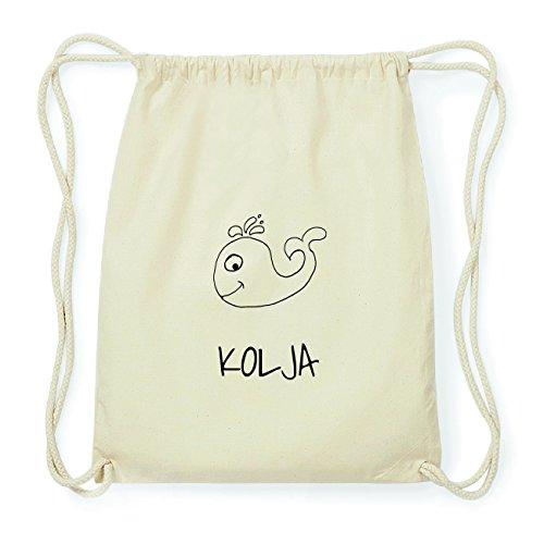 JOllipets KOLJA Hipster Turnbeutel Tasche Rucksack aus Baumwolle Design: Wal