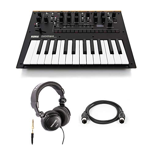 Korg Monologue Monophonic Analog Synthesizer with Headphones and Midi Cable