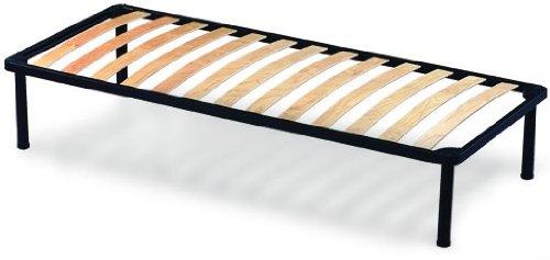 Orthopädische Stahl Lattenrost mit 14 Leisten aus Buche H35 cm - 90X190   Apple