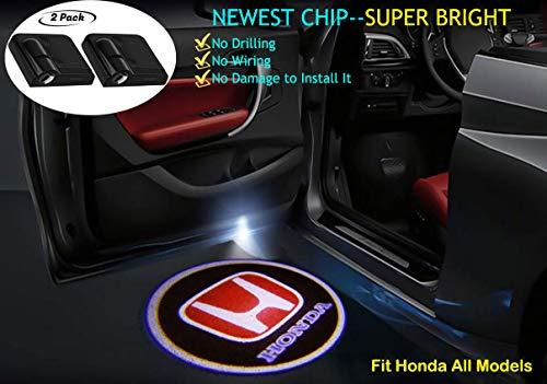 2Pcs for Honda Car Door Logo Projector Lights, Led Welcome Laser Door Lights Logo, Projector Door Lights for Honda (Honda Logo Car)