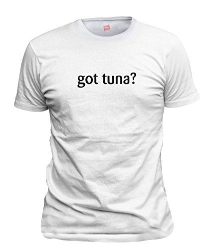 shirtloco Men's Got Tuna T-Shirt, White Extra Large