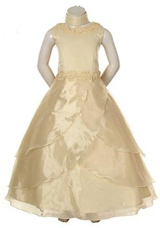 Amazon Ivory Layered Organza Formal Dress Girls Size 6 To 10