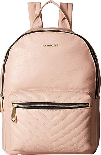 Rampage Womens Chevron Front Pocket Dome Backpack Blush One - Quilted Dome
