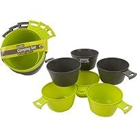 Summit 6 Piece Lightweight Camping Bowl Mug Set