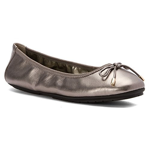 (Me Too Women's Halle Ballet Flat,Pewter Leather,US 8 M )