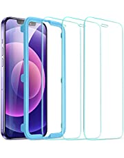 ESR Tempered-Glass for iPhone 12 Screen Protector/iPhone 12 Pro Screen Protector [3-Pack] [Easy Installation Frame] [Case-Friendly]