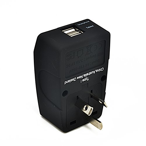 Ceptics GP4-16 2 USB Australia Travel Adapter 4 in 1 Power Plug (Type I) - Universal Socket