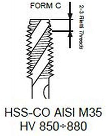 1X Blauring Maschinen Gewindebohrer HSS-CO M 18 x 2.5 DIN 376/C-40°