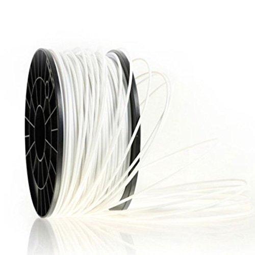 Kaiserlich24 3D Filament PLA & ABS 1.75mm / 3mm Printer Spule Trommel Patrone 1kg (Weiß, PLA 1.75mm)