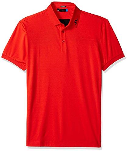 J.Lindeberg Men's Kv Jersey Polo Shirt, Racing red, Medium (Racing Mens Polo)