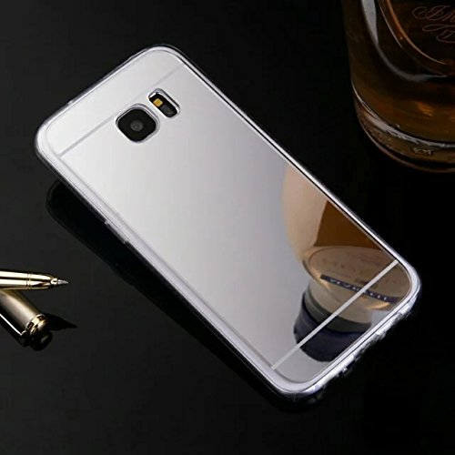 Galaxy S7 Case,HAOTP(TM) Beauty Luxury Trendy Glitter Vibrant Cute Fashion Hybrid Soft TPU Mirror Cover Case for Samsung Galaxy S7 (Sliver)