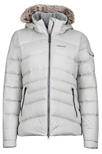 (Marmot Ithaca Women's Down Puffer Jacket, Fill Power 700, Glacier Grey ,X-Small )
