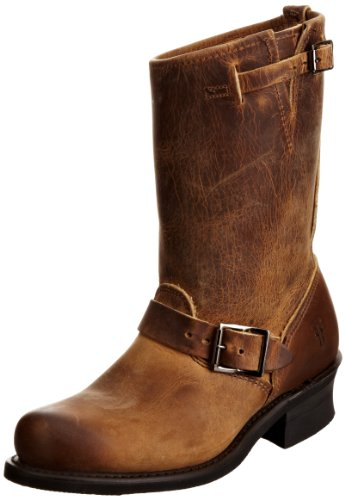 FRYE Women's Engineer 12R Boot,  Dark Brown Oiled Leather, 10 M - Oiled Boots Leather