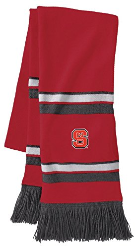 Ouray Sportswear NCAA North Carolina State Wolfpack Comeback Scarf, One Size, Scarlet/White/Graphite -