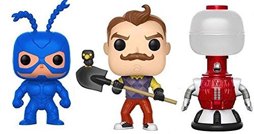 Funko POP! TV MST3 - Tom Servo Standard The Tick and Games Hello Neighbor - Collectible Figure Set of 3 by Funko