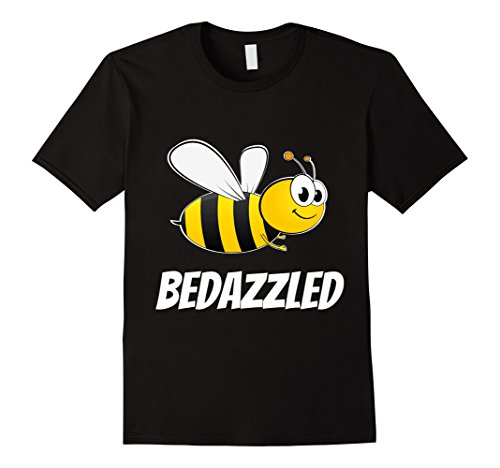 Mens Be Bedazzled (Bee Bedazzled) Cool Bumble Bee T-shirt Medium Black (Bumble Bee T Shirt)