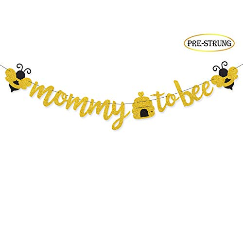 Mommy To Bee Banner, Bumble Bee Baby Shower Banner Gender Reveal Party -