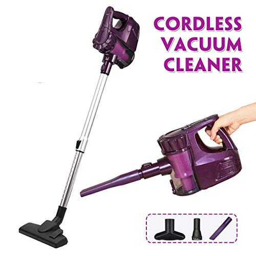 KingSo Vacuum Cleaner Cordless, 2 in 1 Lightweight Upright Handheld Stick Vacuum Cleaner with LED Light Suction Brush Tool Foldable Cleaner Powerful Suction for Floor Carpet Pet Hair