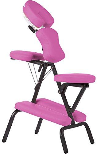 Silla de masaje plegable y portátil en color rosa: Amazon.es: Hogar