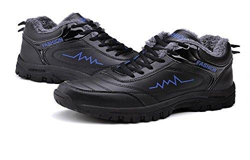 Sauvage Épaississement de Exercice Chaussures cachemire Garde Hommes black chaud Plus Exercice blue au Mode Loisirs Chaussures Hiver Coton gxwq7F