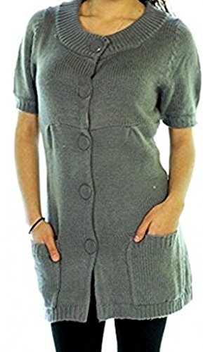 Studded Tunic Dress - Star-Studded Button Down Sweater Dress OR Tunic Cardigan (XS)