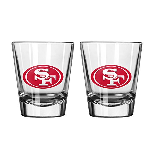 NFL San Francisco 49ers Game Day Shot Glass, 2-ounce, - Glasses San