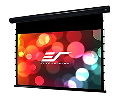 "Elite Screens Starling Tab-Tension 2, 100"" 16:9, 24"" Drop, Tensioned Electric Motorized Projector Screen, STT100UWH2-E24 by ELIAA"