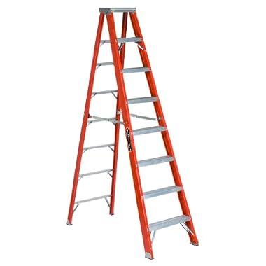 Louisville Ladder FS1308HD 375-Pound Duty Rating, Fiberglass Step Ladder, 8-Feet