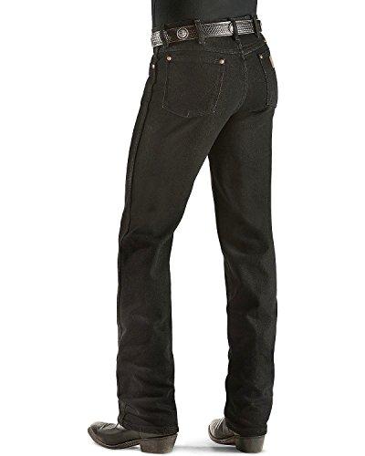 Wrangler Men's Cowboy Cut Slim Fit Jean,Black Stretch,32x30