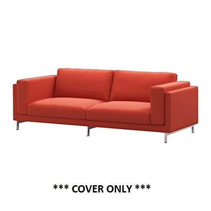 IKEA NOCKEBY   Slipcover For Sofa 99 U0026quot; Risane Orange (cover ...