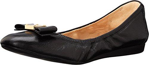 Cole Haan Women's Tali Bow Ballet Flat, Black Leather, 8.5 B US