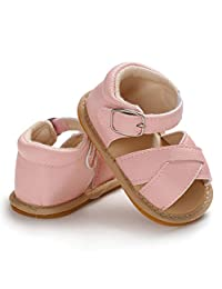 LZCYILANXIULSL Summer Infant Baby Boy Girl Sandals Prewalker Newborn Leather Soft Sole Crib Shoes