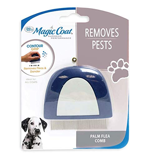 - Four paws Magic Coat Dog Grooming Palm Flea Comb