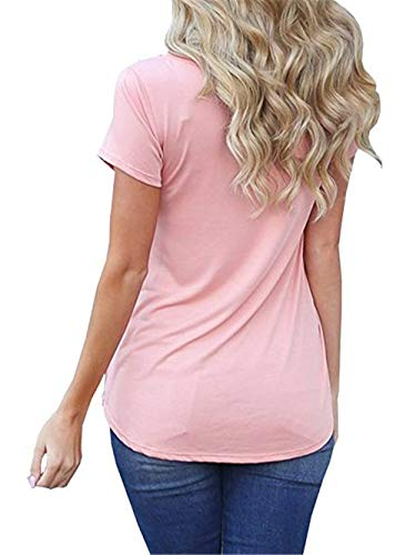 Uni Tshirt Top Rose Mode T Spcial Femme lgant Manche Slim Shirt Courtes Shirts Trous Et Branch Fit Rond Poches Col Avant Style Manches Confortable wt8wfxgqr