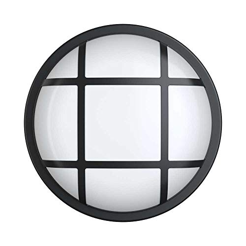 20W LED 4000K IP65 Caged Flush Wall Ceiling Mounted Round Dome Bulkhead Light Fitting for Outdoor. [Energy Class A++],warmlight