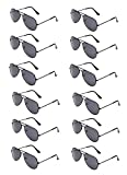 WODISON Classic Kids Aviator Sunglasses Bulk Metal Frame Children Party Eyeglasses 12 Packs