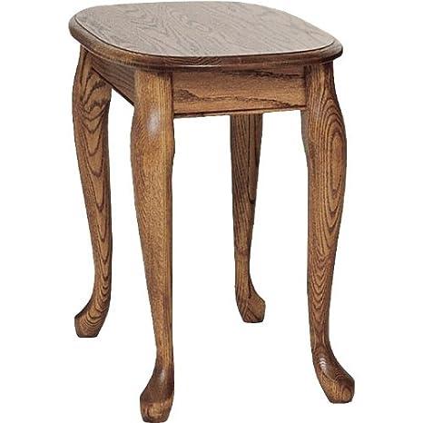 Excellent Amazon Com Queen Anne Solid Oak Chair Side Table 15 X 27 Dailytribune Chair Design For Home Dailytribuneorg