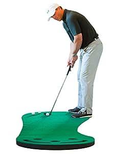 Shaun Webb's Premium Golf Putting Green & Indoor Mat 9'x3' (Designed By, PGA Pro & Golf Digest's Top Teacher) Premium Backing, No Creases, Deeper Holes, Thicker & Wider Surface