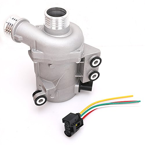 Engine Electric Water Pump with Wiring Harness for 2006-2013 BMW 1 3 5 X3 X5 Z4 Series with N51 N52 3.0L L6 Engine Replace # 11517586925 11517546994 11517586924 11517563183 (Pump Coolant Electric)