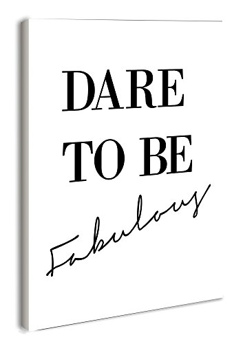 The Stupell Home Decor Collection lulusimonSTUDIO Dare to Be Fabulous Rectangle Wall Plaque