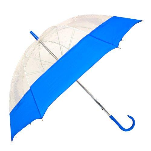StrombergBrand The Bubble Fashion Umbrella, Clear/Royal Blue, One Size