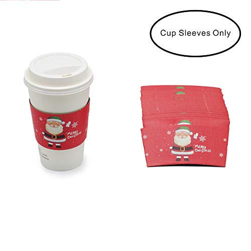 25pcs Christmas Santa Claus Coffee Cup Tea Cup Sleeves, 12 oz 16 oz