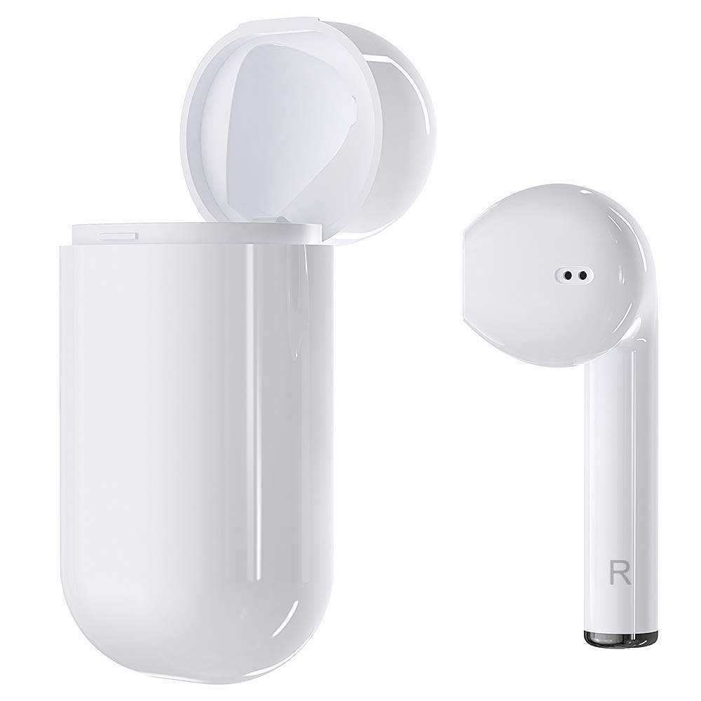 DACOM Single Earbud Mini Headphone Wireless Earbud Bluetooth 5.0 Touch Control Earbud Lightweight in-Ear Built-in Mic Super Bass Headphone,One-Step Pairing with 300mAh Charging Box for Mobile Phone by DACOM